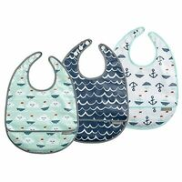JJ Cole 3pc Bib Set - Sailboats