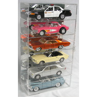 6 x 1:18 Vertical Display case Display Case Biante Classic Carlectable Autoart Bburago