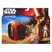 "Star Wars E7 3.75"" Class I Rey's Speeder Deluxe Vehicle with Rey (Jakku)"