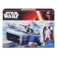 "Star Wars E7 3.75"" Class II First Order Snowspeeder Vehicle with Snowtrooper"