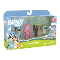 "Bluey & Friends 2.5"" Figurines 4 Pack"