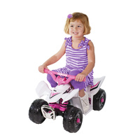 Yamaha Electric Ride-On Mini Quad Bike 6 Volt Pink Girls ATV Style
