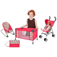 Maclaren Deluxe Acitivity Set Chiclets - Doll's Stroller, Cot, Bouncer & Nappy Bag