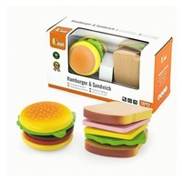 Viga Wooden Hamburger & Sandwich