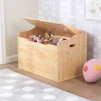 KidKraft Austin Wooden Toy Box - Natural