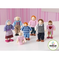 KidKraft Wooden Dollhouse Family of 7 - Caucasian
