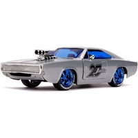 Jada Fast & Furious 20th Anniversary 1970 Dodge Charger Raw Metal 1:24 Scale Diecast Metal 31092