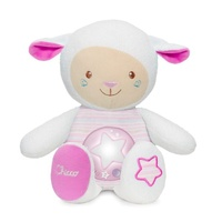 Chicco First Dreams Lullaby Sheep Pink Night Light with Voice Recording