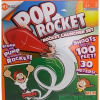 Pop Rocket launcher set - Stomp and it shoots up to 30 metres!
