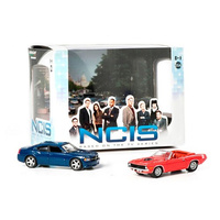 NCIS Diorama - 2009 Dodge Charger, 1970 Plymouth Barracuda 1:64 Scale