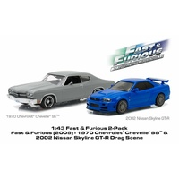 Fast & Furious 1970 Chev Chevelle SS & 2002 Nissan Skyline GT-R 1:43 Scale
