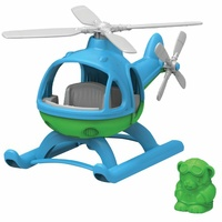 Green Toys Helicopter Blue 100% Recycled Plastic