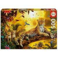 Educa Leopards And His Cubs 500pc Jigsaw Puzzle