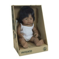 Miniland Baby Doll Hispanic Girl 38cm