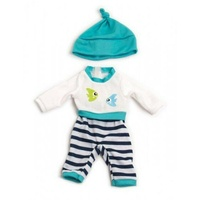 Miniland 32cm Doll Clothing Turquoise Winter Pyjamas