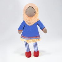 Global Sisters Soft Head Covering 32cm Doll with Booklet - Imani