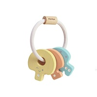 Plan Toys Pastel Key Rattle Wooden Toy - Sustainable Materials