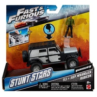 Fast & Furious Stunt Stars 1:32 Scale Tej & Jeep Wrangler Rubicon