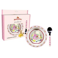 Bunnykins Feeding Bowl and Spoon - Sweethearts Pink