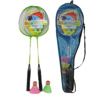 Badminton set with two racquets & two shuttlecocks
