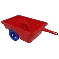 Dune Buggy Trailer Red attaches to three wheel plastic trike