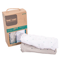 Love N Care Dreamtime Co-Sleeper Moonlight Fitted Sheet Twin Pack