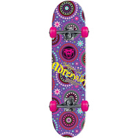 Adrenalin Halfpipe Girl Skateboard - Purple with dots