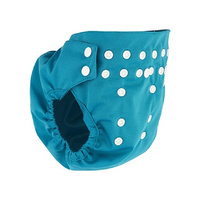Pea Pods Pilchers Reusable Waterproof Nappy Cover ONE Size - Aqua Blue