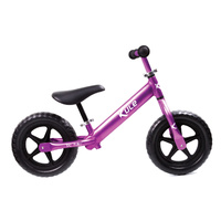 "Kule 12"" Balance Bike Purple - super light aluminium frame, forks and seat post!"