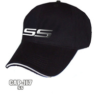 "Chev Chevrolet Holden Commodore ""SS"" Super Sport Liquid metal black hat cap-117"