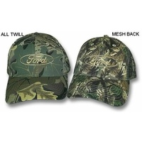 Ford Camouflage hat cap. Ranger hook/loop tab. Embroidered logos BRAND NEW H227