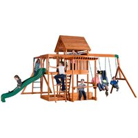Backyard Discovery Monticello Play Centre with swings, slide & monkey bars