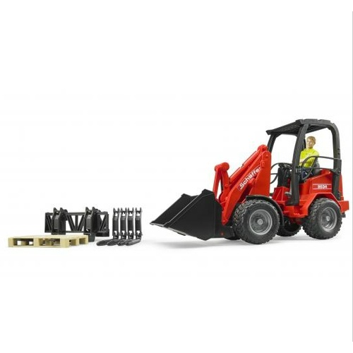 Bruder Schaffer Compact Loader 2034 with Figure & Accessories 1:16 scale 02191