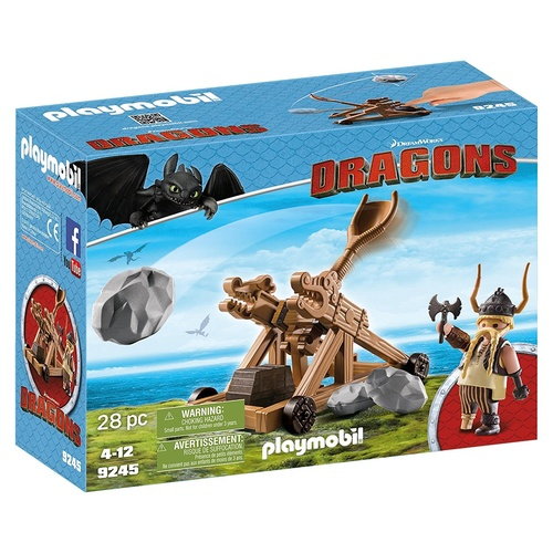 Playmobil Dreamworks Dragons Gobbler with Catapault 9245