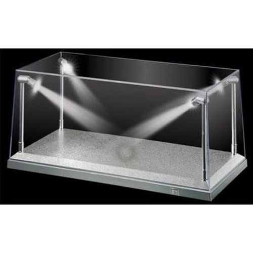 LED Display Case 1:18 Scale Silver Base